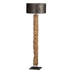 Teaklholz Stehlampe Totem