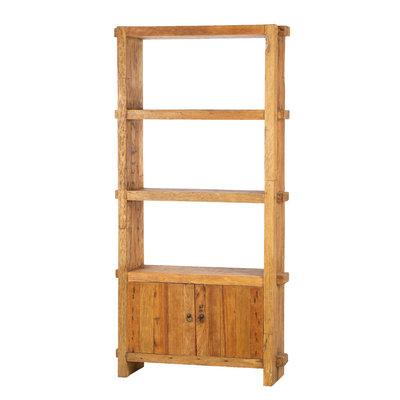 Muj - Teak Bücherregal Mit Zwei Türen
