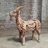 Teak Skulptur Ziege