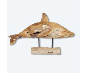 Delphin aus Teakholz