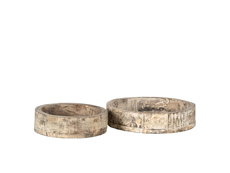 Holz Schale Mang (2-teiliger Satz)