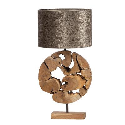 Teaklholz Lampe Bulat