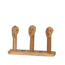 Holz Kerzenhalter Topeng