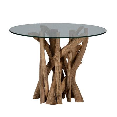 Ranting - Holz Couchtisch Mit Glasplatte