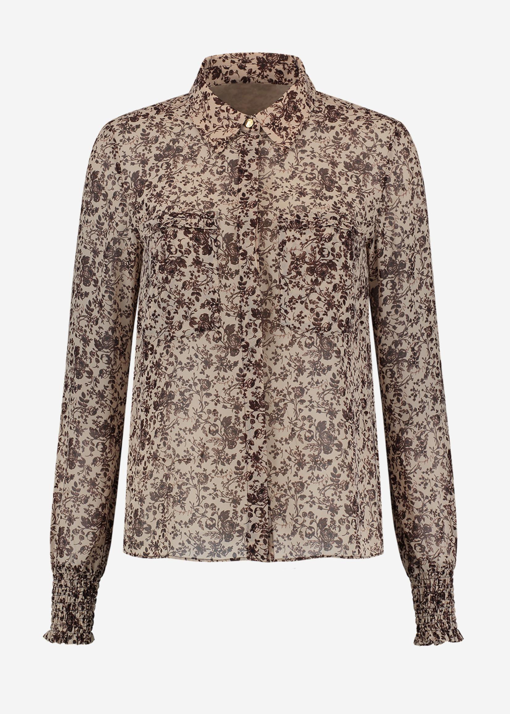 NIKKIE FLOWER DUSTY BLOUSE blouse met bloemen print