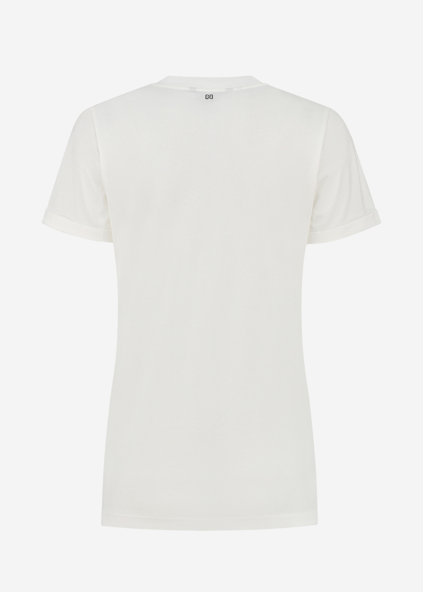 NIKKIE EAGLE BOYFRIEND ROLL UP T-SHIRT T-shirt met opgerolde mouwen