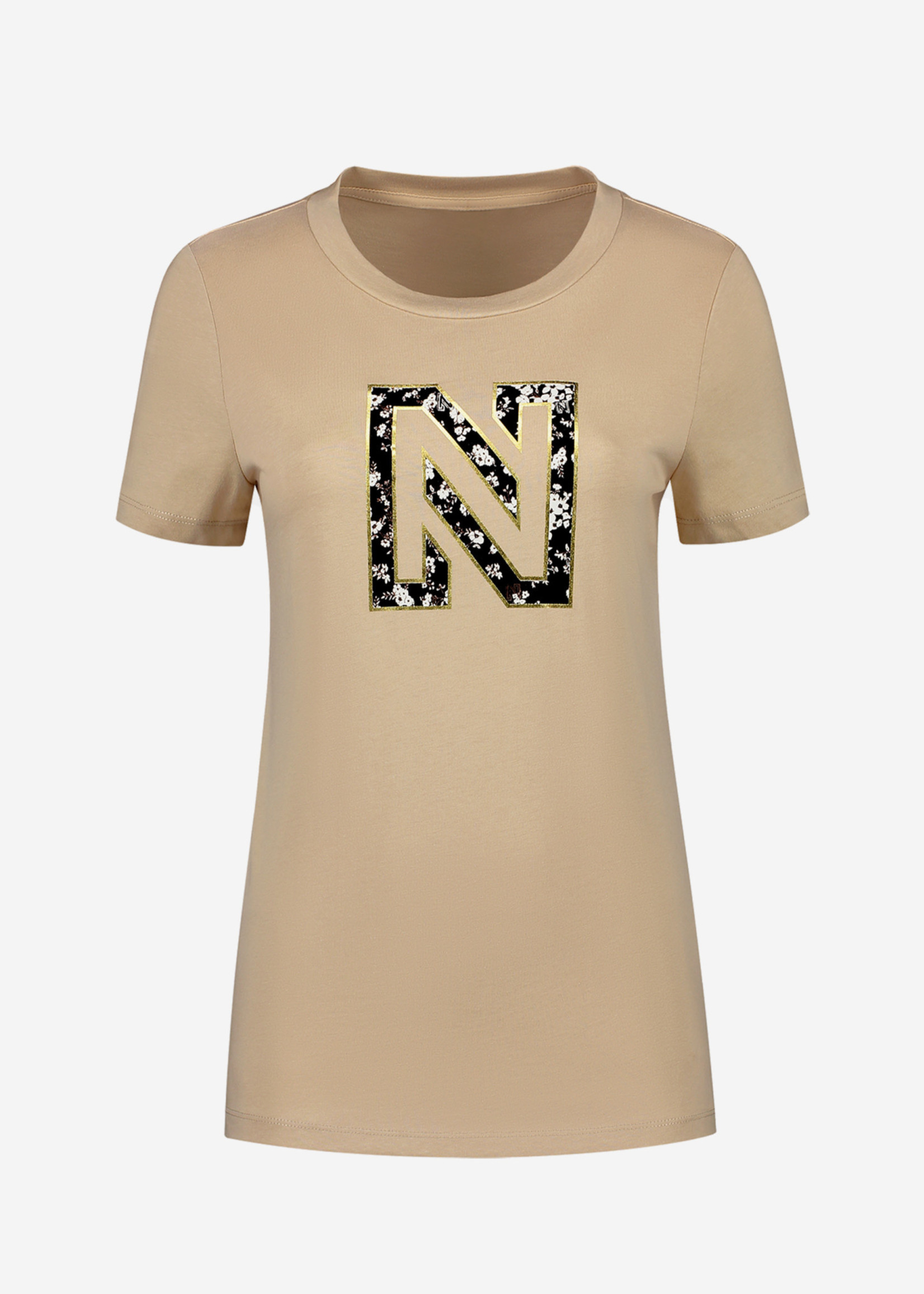 NIKKIE NIKKIE FLOWER LOGO T-SHIRT T-shirt met N logo