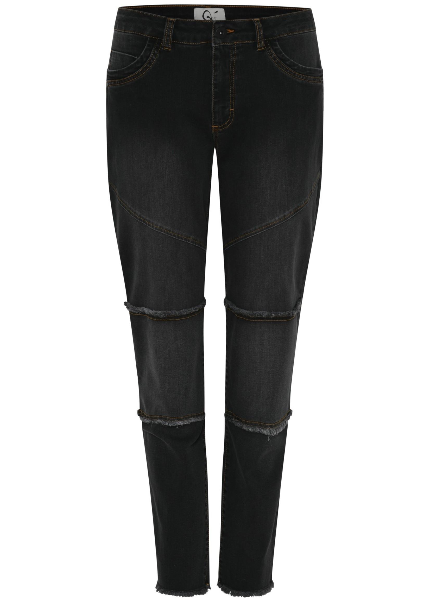 QUE QUE Jeans met stikseldetails