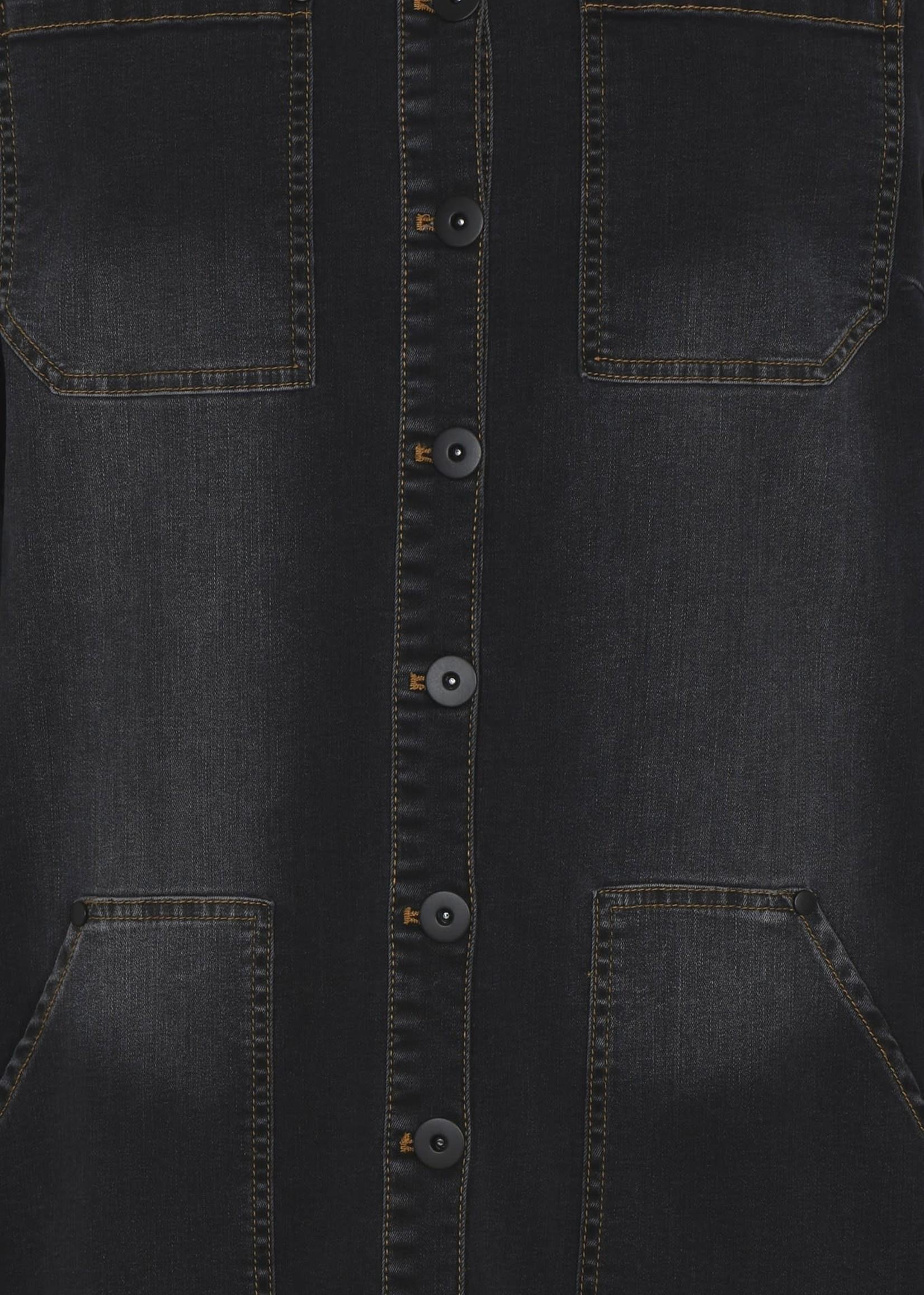 QUE QUE Tuniek jeans met stikseldetails