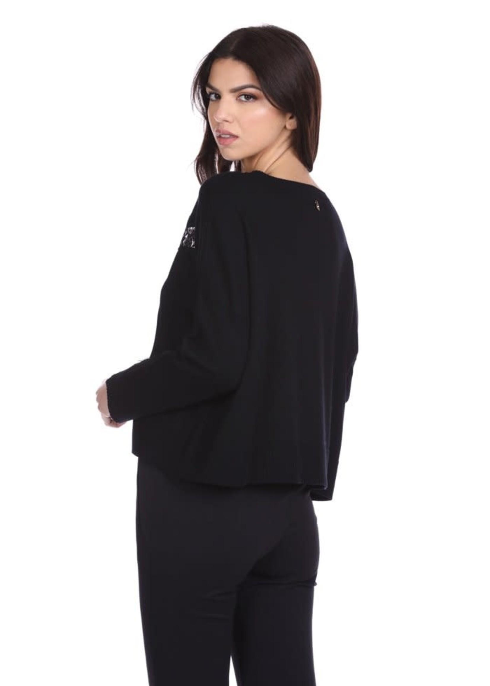 Relish COPYLSER korte longsleeve shirt met kanten details