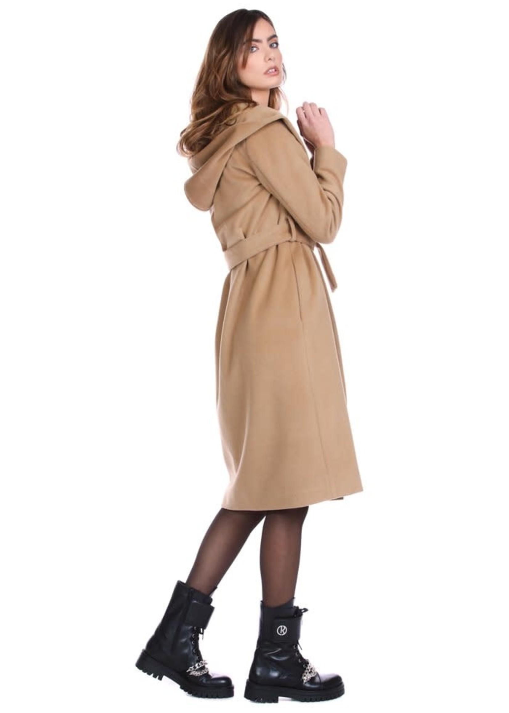 Relish TAMMORE jas met lange mouwen, capuchon plus riem plus zakken