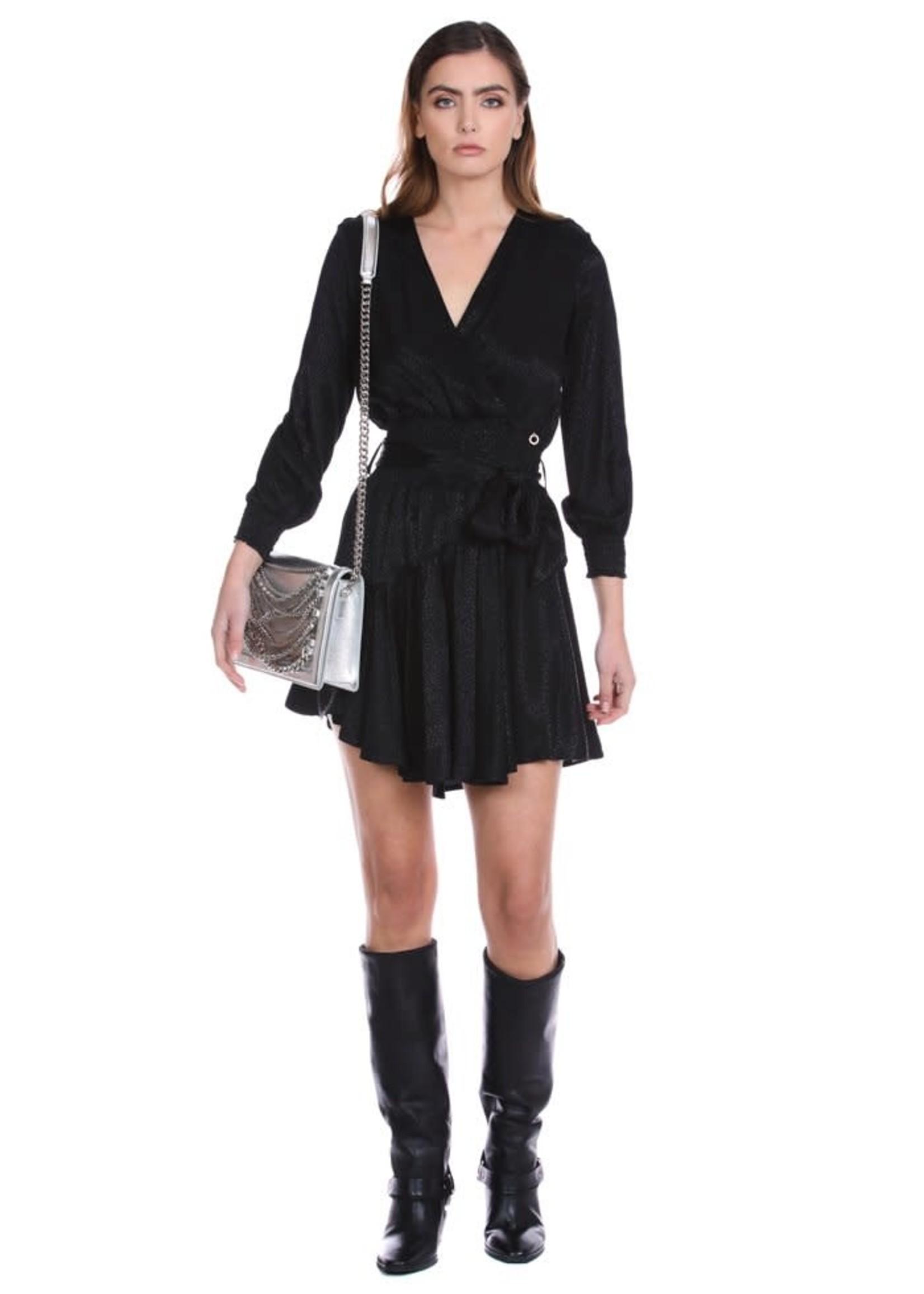 Relish PARATU Korte jurk met lange mouwen kruisende halslijn