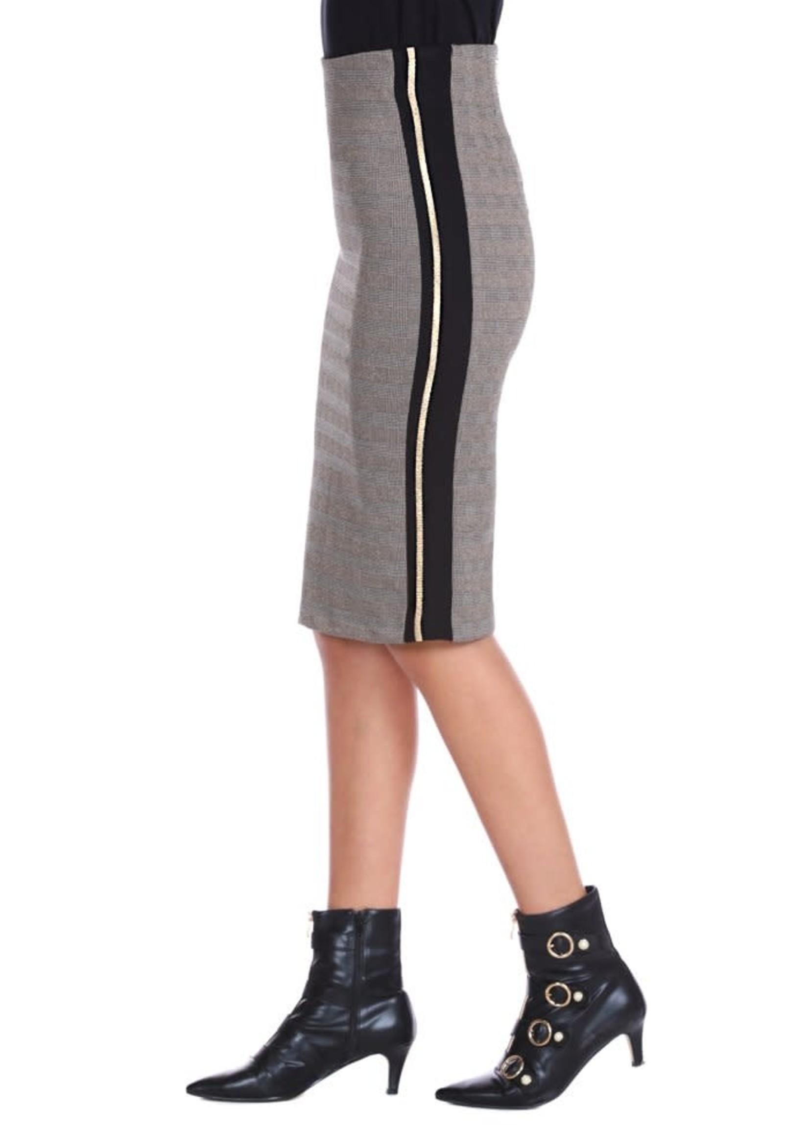 Relish NINOSTER lange rok met rits en zijrib