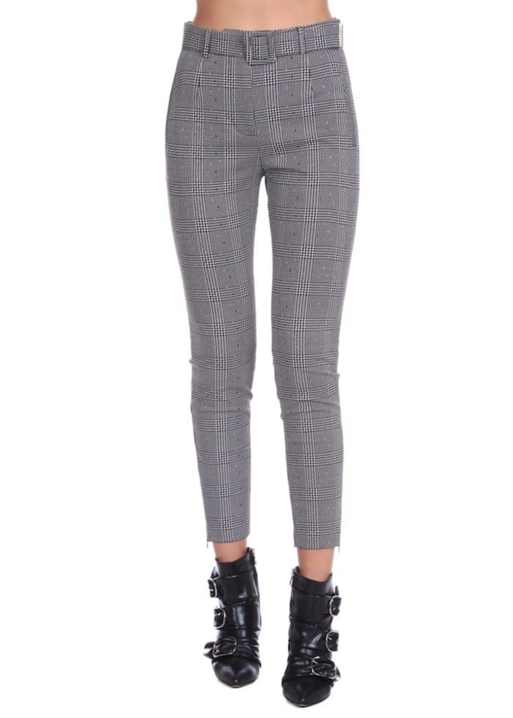 Relish JJYT broek met hoge taille en riem met plooien plus rits onderaan