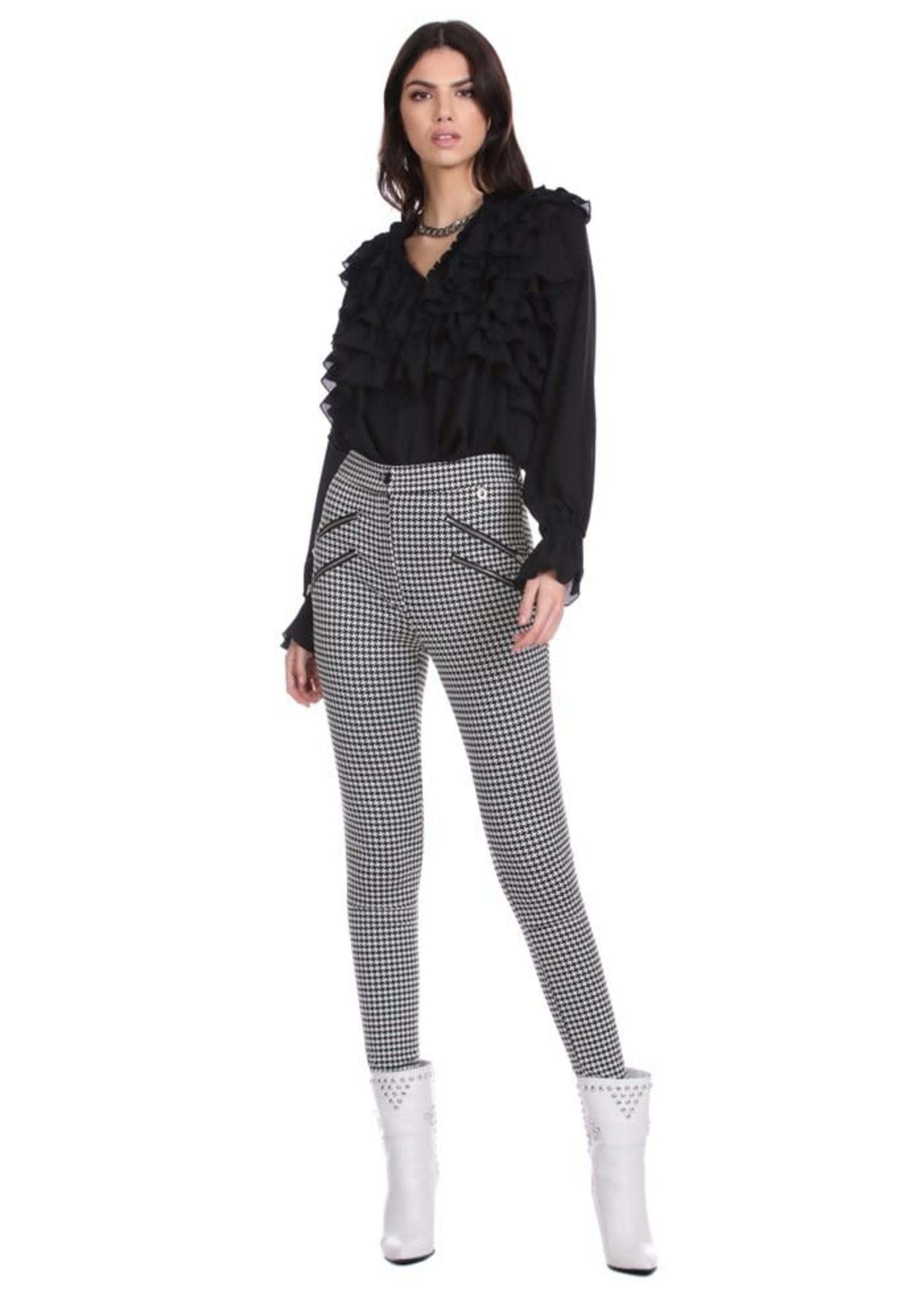 Relish AIAS broek met hoge taille en vichy-rits