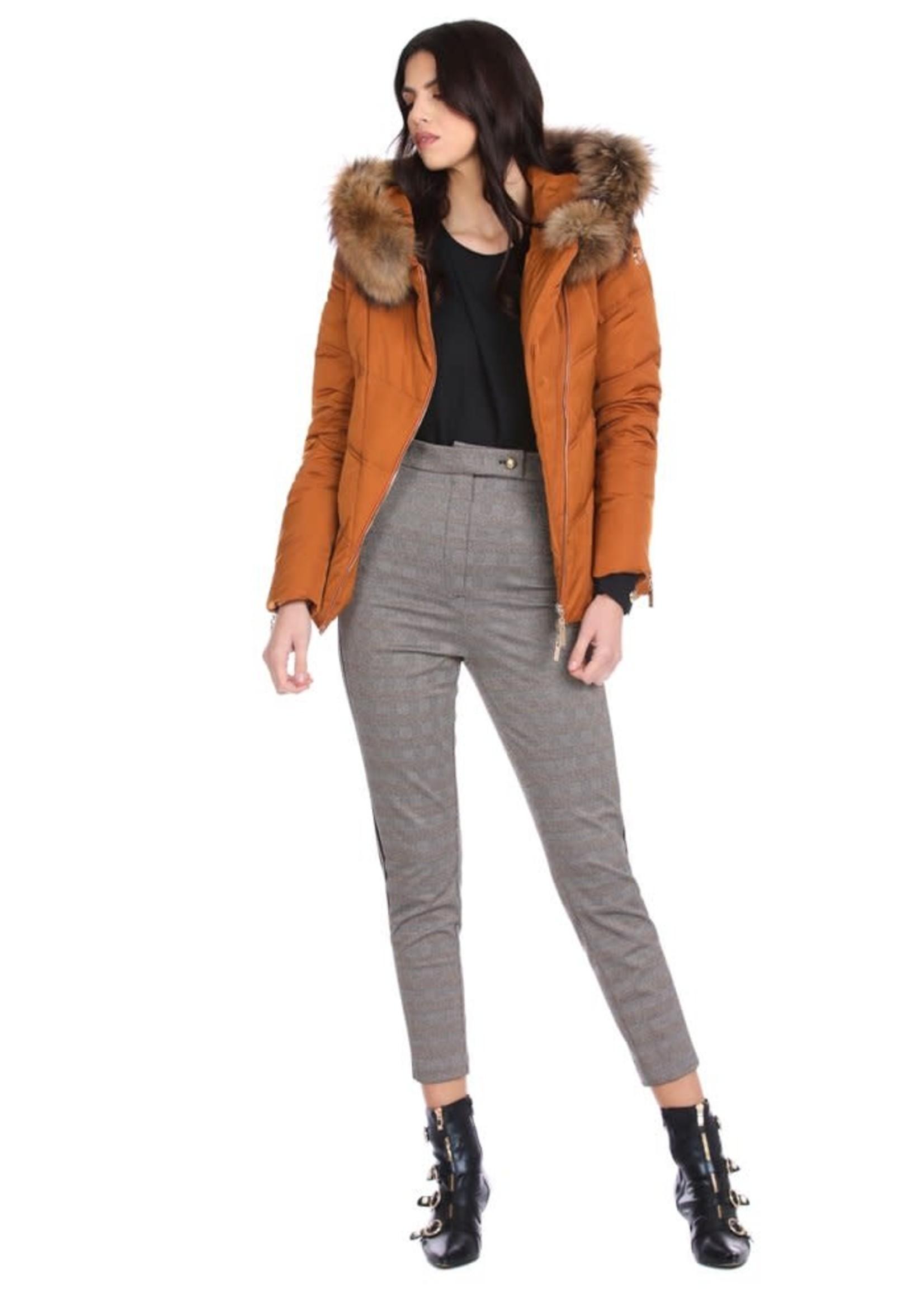 Relish SINEKA broek met hoge taille en elastiek plus zijrib