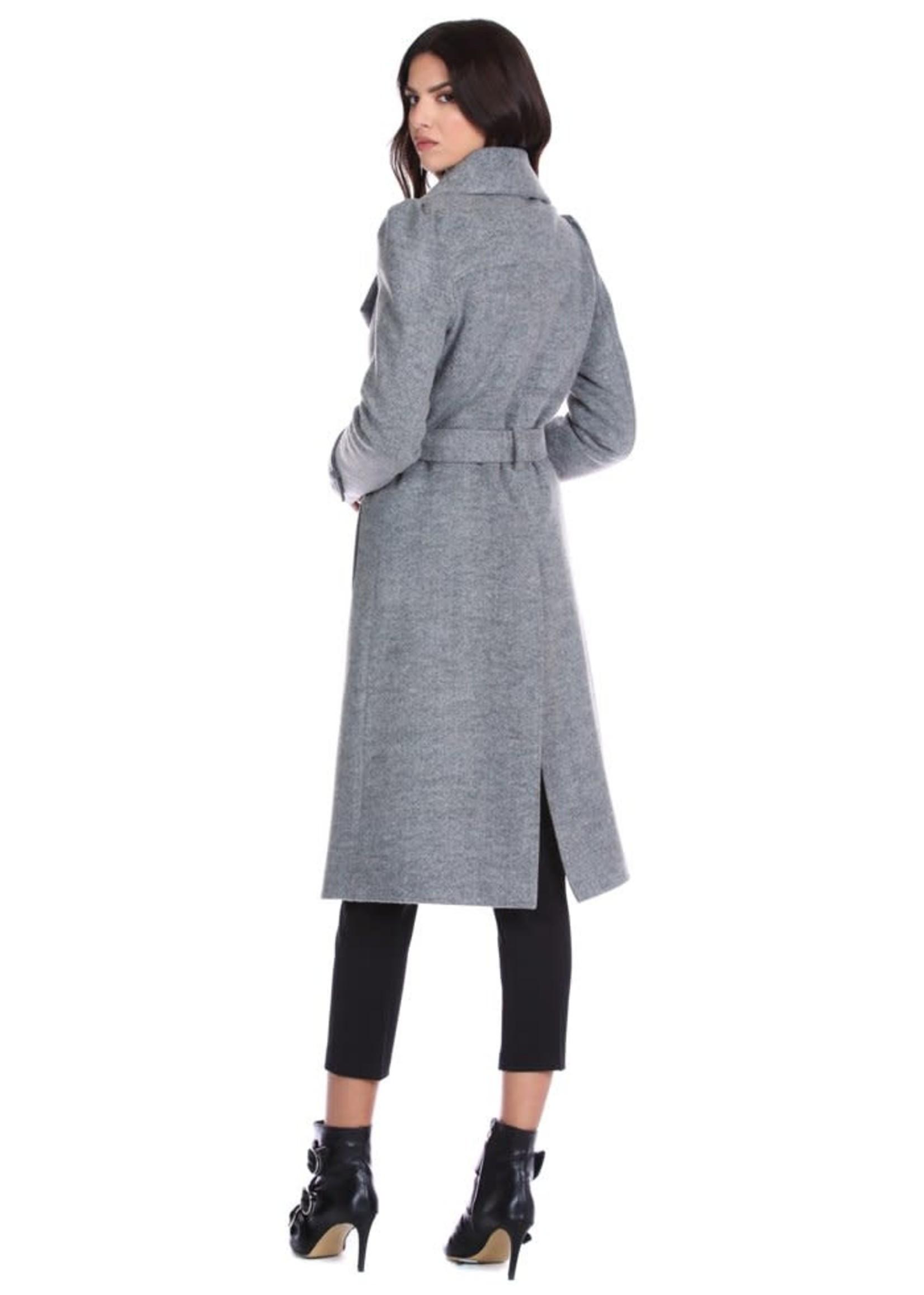 Relish KITRE jas met lange mouwen met riem en zakken