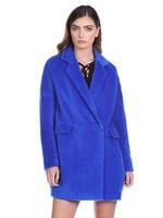Relish WIPO-jas met lange mouwen en dubbele rij knopen, zakken en bontflappen