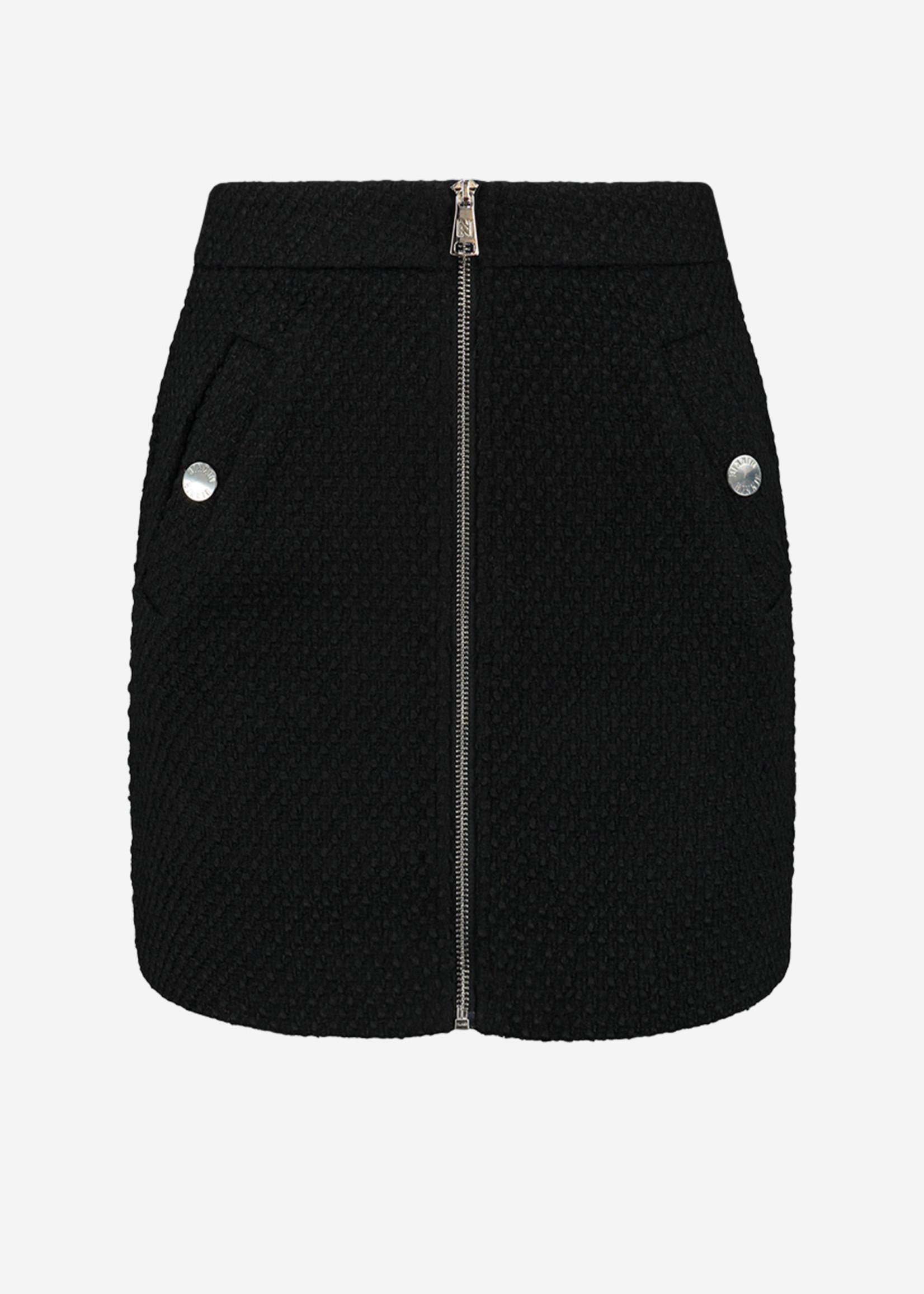 NIKKIE LEXI SKIRT Tweed mini rok met rits