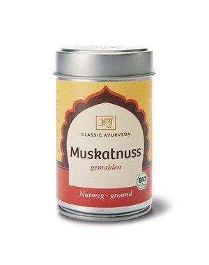 Ayurveda Muskatnuss gemahlen, Bio,  50g im Streuer