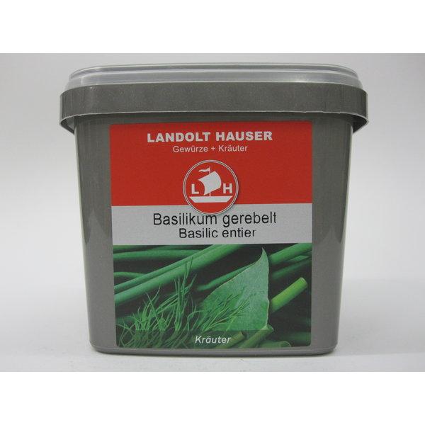 Landolt Hauser AG Basilikum ganz gerebelt 150g in der LH Box