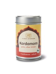 Ayurveda Kardamom, ganz, ohne Schale, Bio 70g