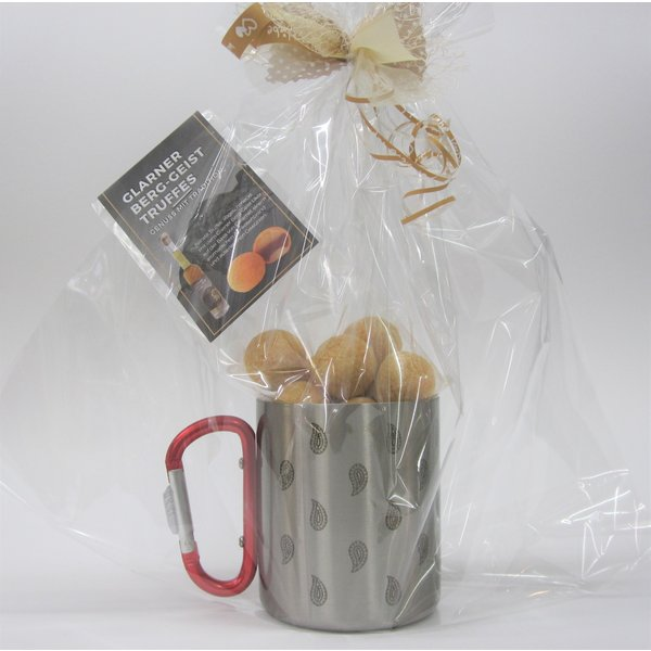 Glarner Outdoor Tasse gefüllt mit Truffes Berg-Geist