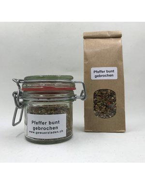 Landolt Hauser AG Pfeffer bunt gebrochen, 50g im Glas