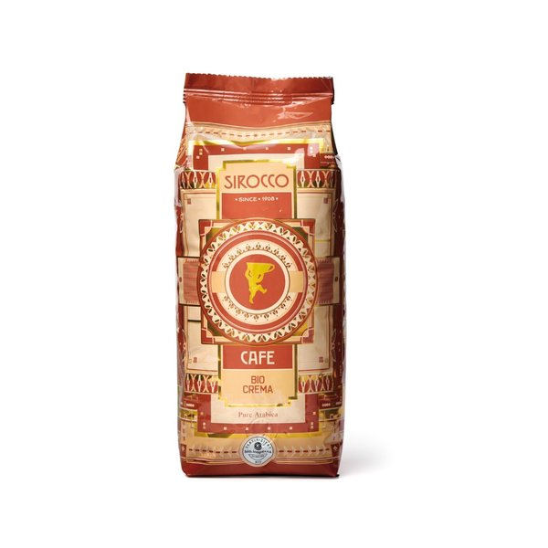 Sirocco Bio-Crema, Beutel à 500g Bohnen (Fairtrade)