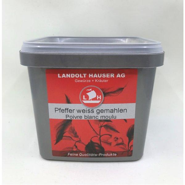 Landolt Hauser AG Pfeffer weiss gemahlen 600g in der LH Box