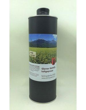 Schnyderhof  Glarner Rapsöl kaltgespresst 1 Liter