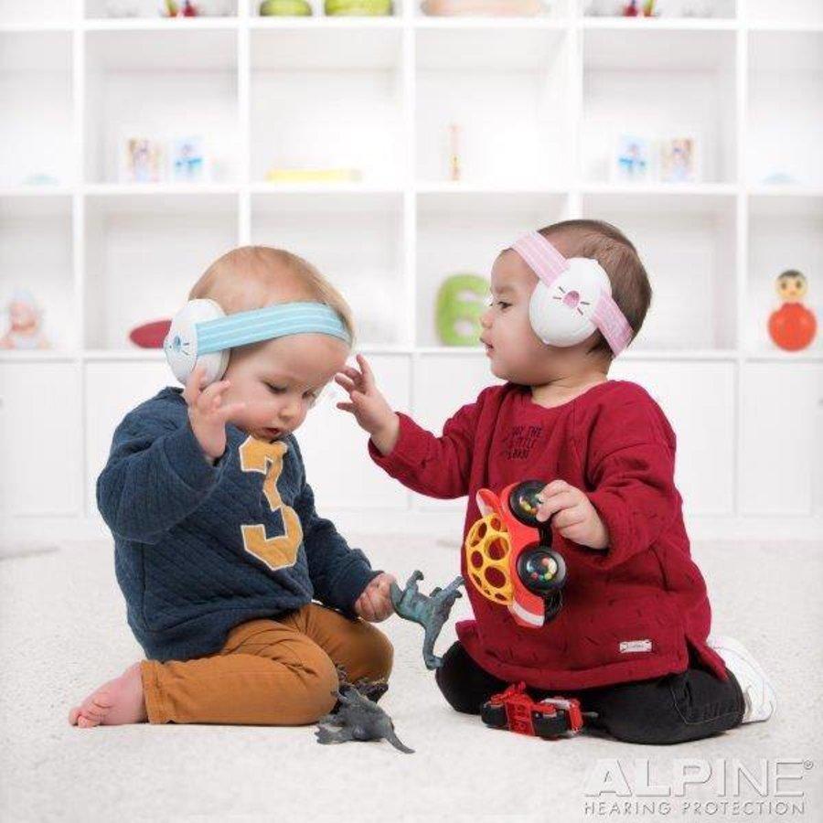 Muffy blauwe baby oorkap voor baby's en peuters