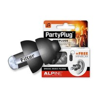 Partyplug Zwart met Alpine Miniboxx opbergkoker