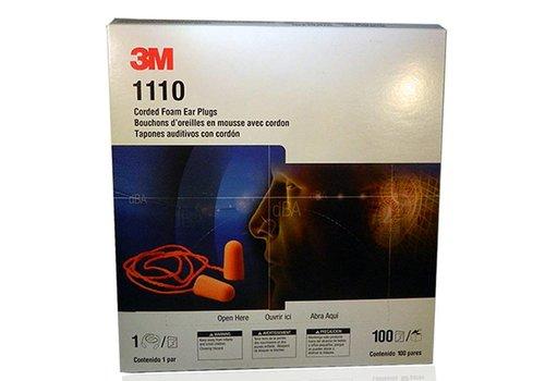 3M 1110  | oranje oordoppen met koordje | 100 paar
