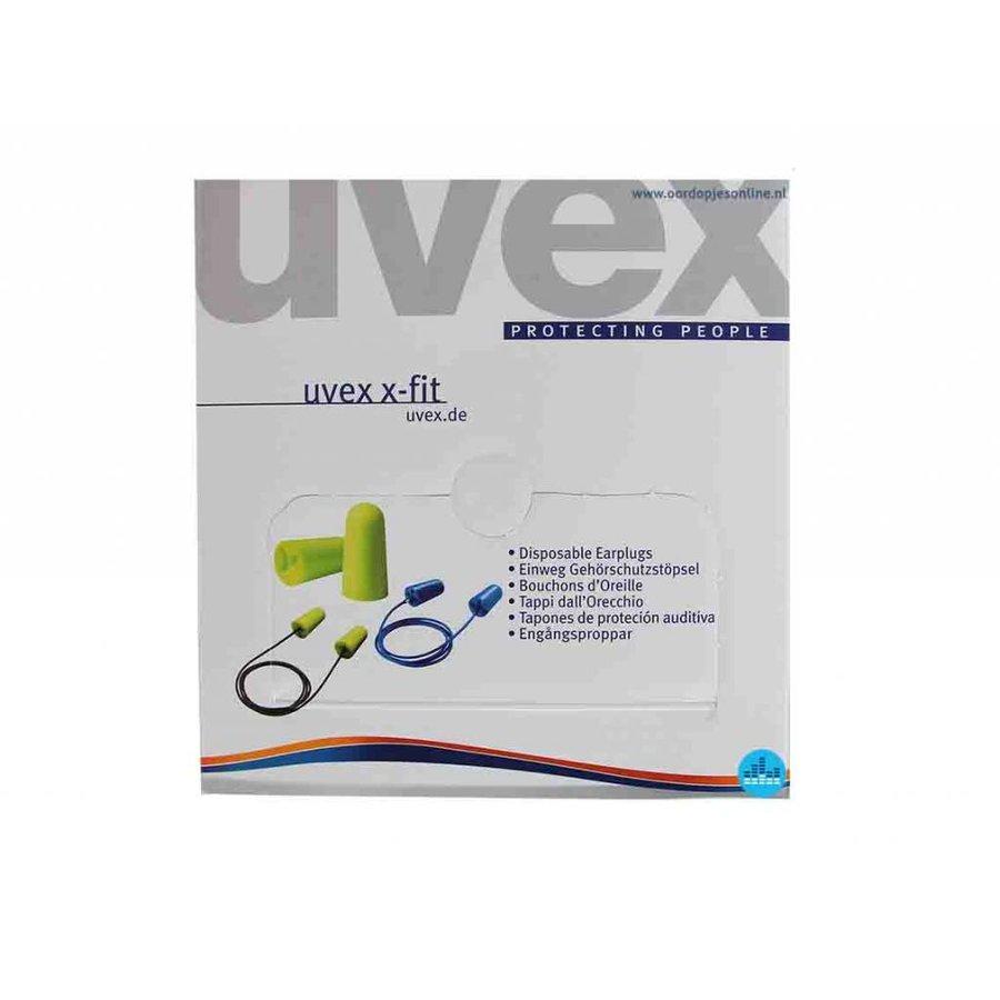 X-Fit gehoorbescherming met koord | SNR 37dB | 100 paar