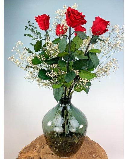 Exclusief | Rode rozen incl. Traun Vaas
