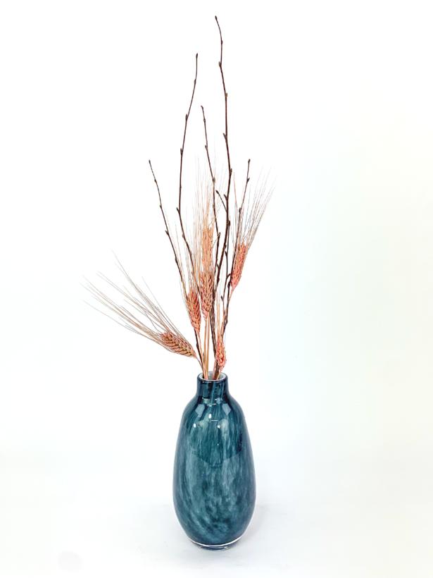 'Blue Forrest' vazen set met droogbloemen