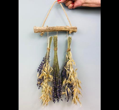 Droogbloemen toef - drie stuks