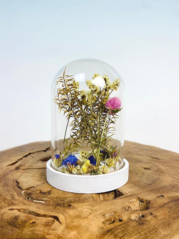 Stolp met droogbloemen - Small