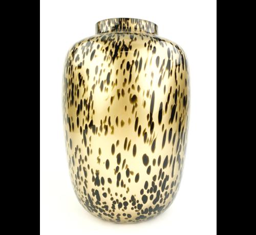 "Artic vaas ""Golden Cheetah"" - ⌀25xH35cm"