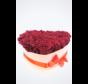 Longlife Rozenbox 'hart' (20 stuks) - donkerrood