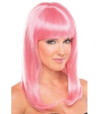 Be Wicked Wigs Hollywood Pruik - Lichtroze