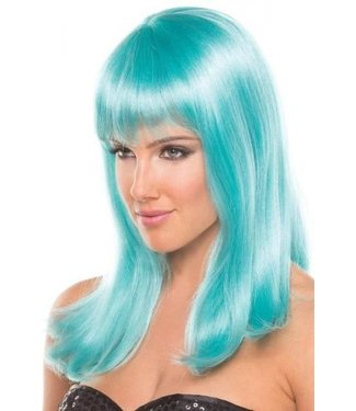 Be Wicked Wigs Hollywood Pruik - Aqua