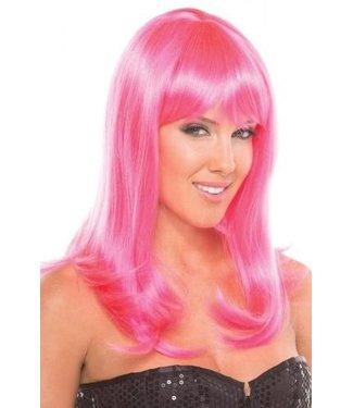 Be Wicked Wigs Hollywood Pruik - Roze