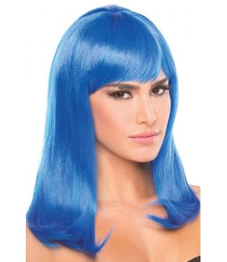 Be Wicked Wigs Hollywood Pruik - Blauw
