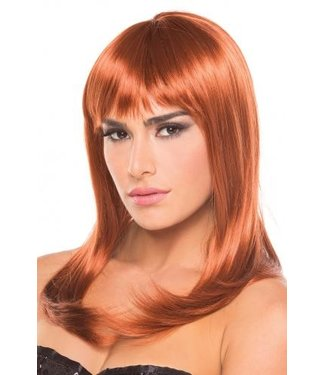 Be Wicked Wigs Hollywood Pruik - Kastanjebruin