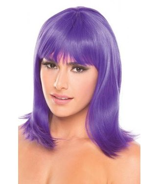 Be Wicked Wigs Doll Pruik - Paars