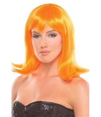 Be Wicked Wigs Doll Pruik - Oranje
