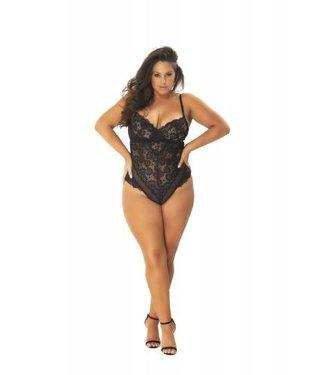 OhLaLa Cheri Kanten Body Met Verleidelijke Achterkant - Curvy