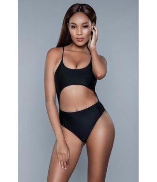Be Wicked Swimwear Alina Monokini - Zwart